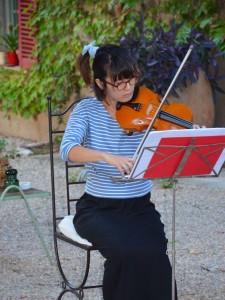 Michiko, premier violon